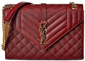 Saint Laurent Medium Envelope Leather Crossbody