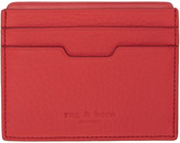 Rag & Bone Red Leather Card Holder