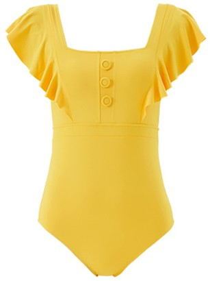 Qua Vino Ruffle One Piece Swimwear - Fairy Moment Yellow