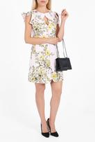 Giambattista Valli Ruffled Shoulder Floral Dress