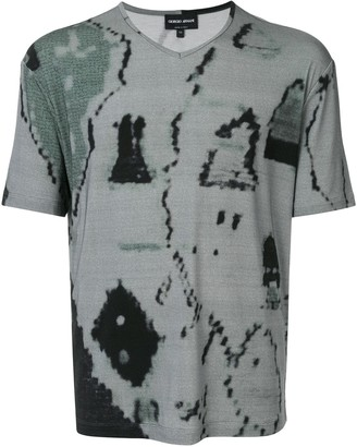 Giorgio Armani abstract print T-shirt