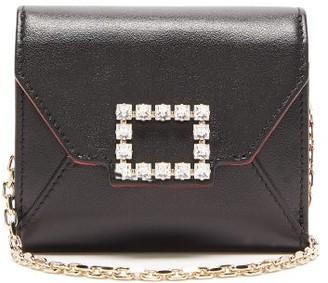 Roger Vivier Tres Vivier Small Crystal-embellished Leather Bag - Black