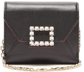 Roger Vivier Tres Vivier Small Crystal-embellished Leather Bag - Womens - Black