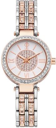 JLO by Jennifer Lopez Women's Bethany Crystal Two Tone Watch