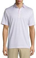 Peter Millar Charley Striped Lisle-Knit Polo Shirt