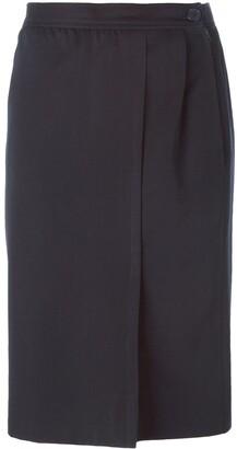 Yves Saint Laurent Pre-Owned Front Slit Skirt