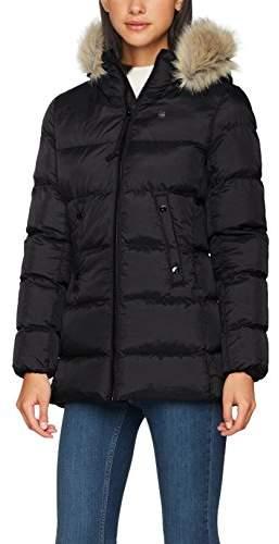 G Star Women's Whistler HDD Fur Down Sp Slim Coat Wmn Jacket, (Black 990), X-Large