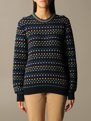 Missoni Crewneck Sweater In Patterned Wool