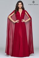 Faviana Chiffon Caped Gown s8087