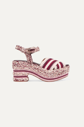 Antolina - Brenda Braided Cotton Sandals - Burgundy