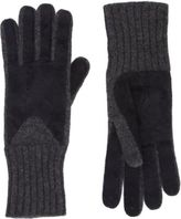 Barneys New York Perforated Knit Gloves