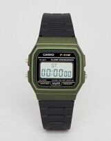 Casio F-91WM-3AEF Digital Silicone Watch In Black/Green