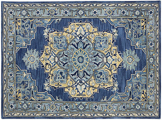 One Kings Lane Gaten Rug - Blue/Yellow - 8'x11'