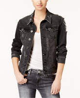 True Religion Dani Cotton Ripped Denim Jacket