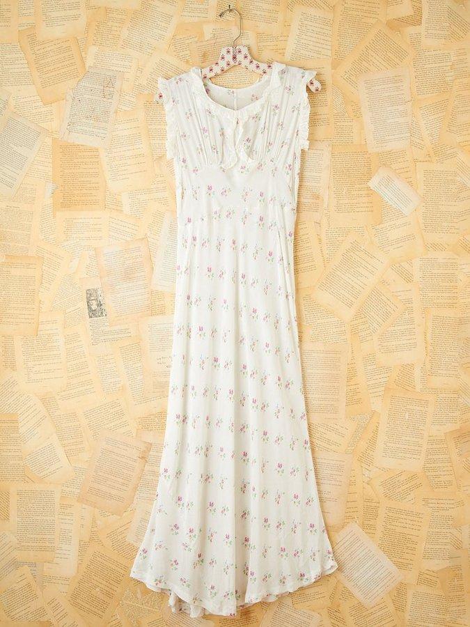 Free People Vintage Silk Maxi Dress