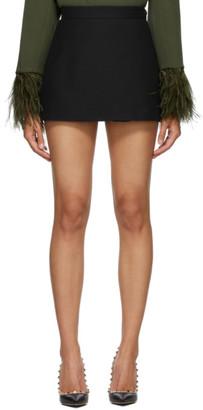 Valentino Black Wool and Silk Skort