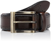 Barneys New York MEN'S DOT-PERFORATED LEATHER BELT
