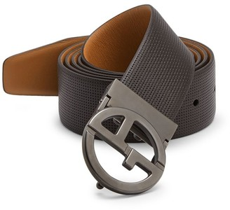 Giorgio Armani Plate Leather Belt