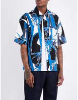 Marni Jungle-print regular-fit cotton shirt