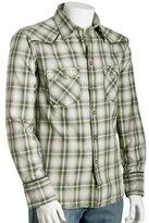 sage plaid 'Flannash' button front shirt