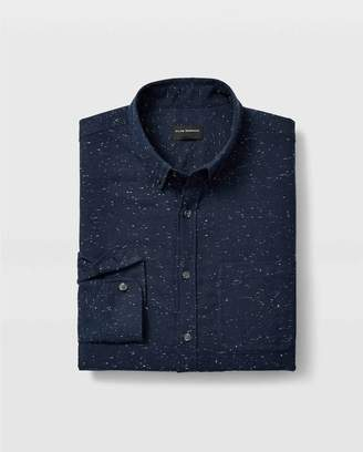 Club Monaco Slim Solid Nep Flannel Shirt