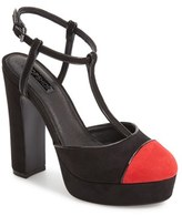 Topshop Women's Saturn Cap Toe Platform Pump
