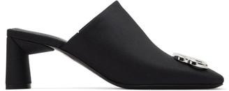Balenciaga Black BB Double Square Mules