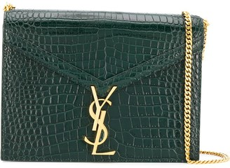 Saint Laurent crocodile-embossed Cassandra bag
