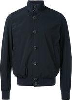 Herno buttoned bomber jacket - men - Polyamide/Spandex/Elastane - 48