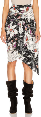 Isabel Marant Roly Skirt in Black   FWRD