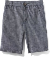 Old Navy Flat-Front Chambray Shorts for Boys