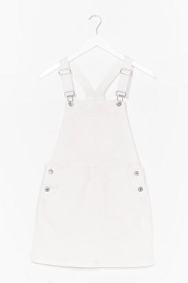 Nasty Gal Womens Denim Dungaree Mini Dress - White - 10, White