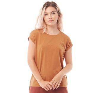 Vero Moda Womens Ava Plain Short Sleeve T-Shirt Meerkat