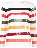 Carolina Herrera sequin striped jumper