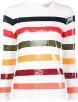 Carolina Herrera sequin striped jumpe