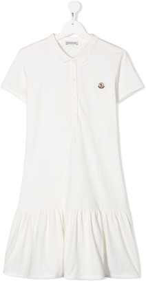 Moncler Enfant Embroidered Logo Polo Dress