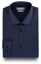 Red Herring Navy Gingham Checked Print Slim Fit Shirt