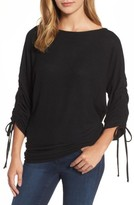 Gibson Women's Tie Sleeve Cozy Fleece Top