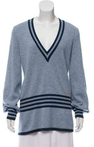 Chanel Cashmere Striped Sweater