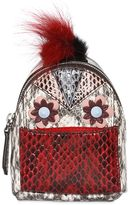 Fendi Micro Elaphe Backpack Charm W/Fur