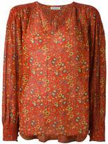 Masscob printed V-neck blouse