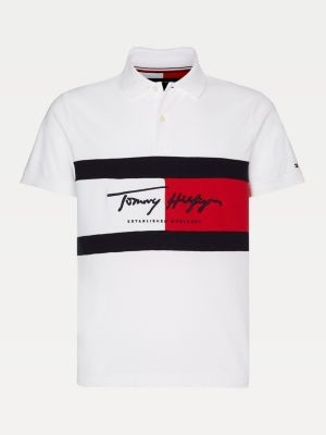 Tommy Hilfiger Big & Tall Colour-Blocked Slim Fit Polo