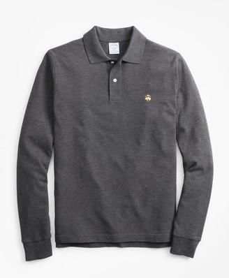 Brooks Brothers Slim Fit Supima Long-Sleeve Performance Polo Shirt-Basic Colors