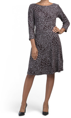 Three-quarter Sleeve Circle Dress