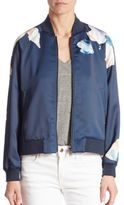 Joe's Jeans Elsie Sateen Floral-Print Bomber Jacket