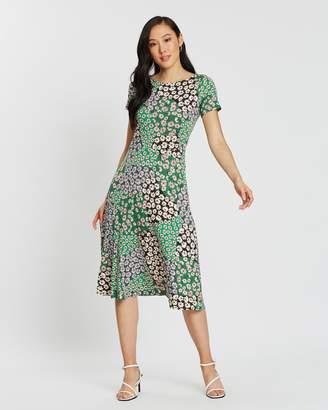 Dorothy Perkins Mixed Flower Split Midi Dress