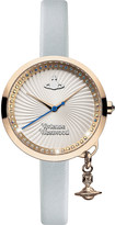 Vivienne Westwood VV139RSBL Time Machine stainless steel and leather watch