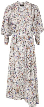 Isabel Marant Blainea printed stretch-silk dress