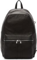 Rick Owens Black Leather Backpack