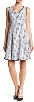 Donna Ricco Floral Lace Fit & Flare Dress
